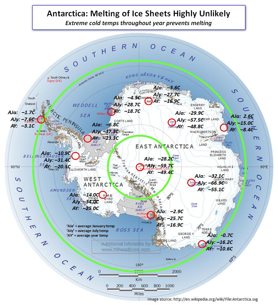 Polar Ice Cap Map Its Polar Ice Caps Were at